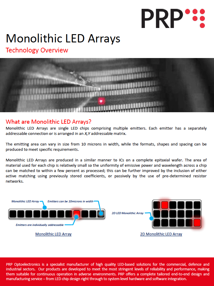 Monolithic LED Arrays Technology Overview