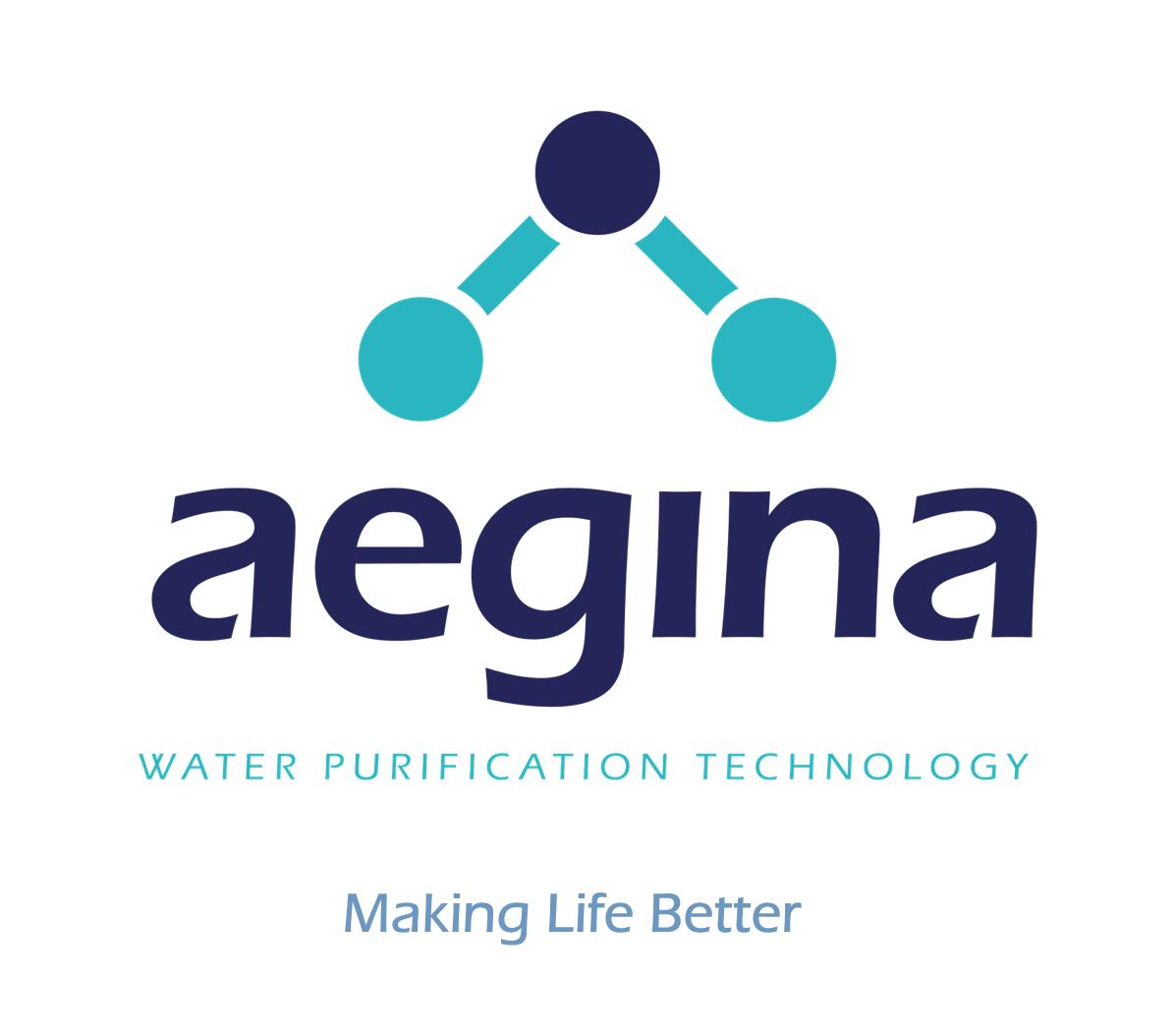Aegina water purification logo making life better