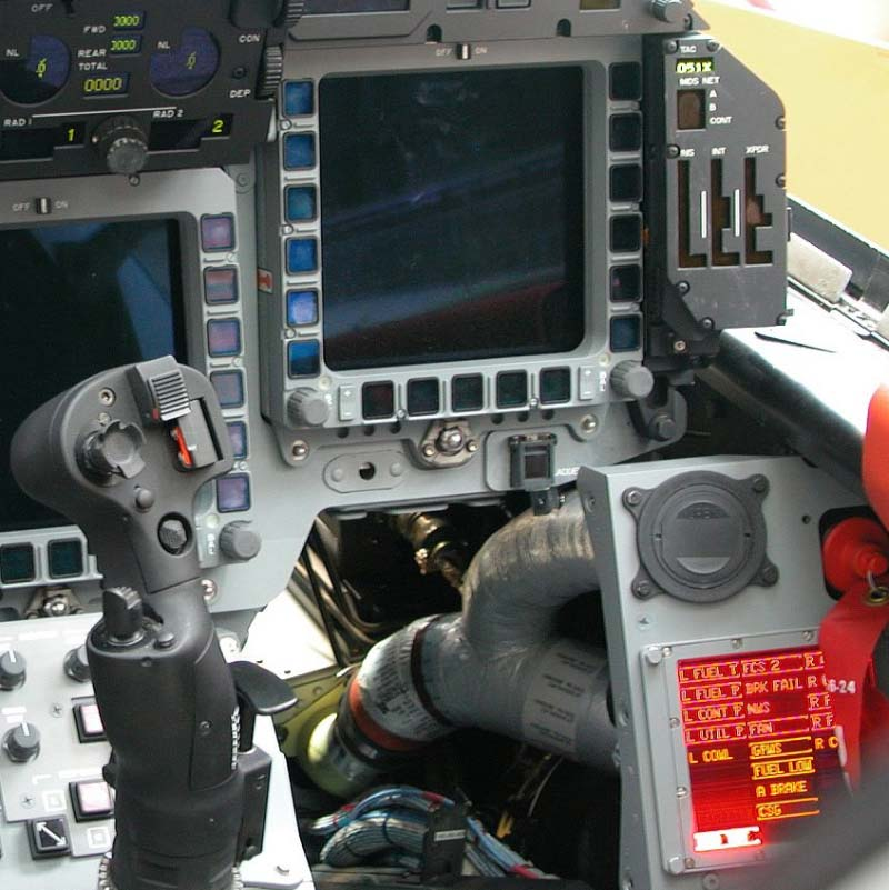 cockpit euro-fighter LED display