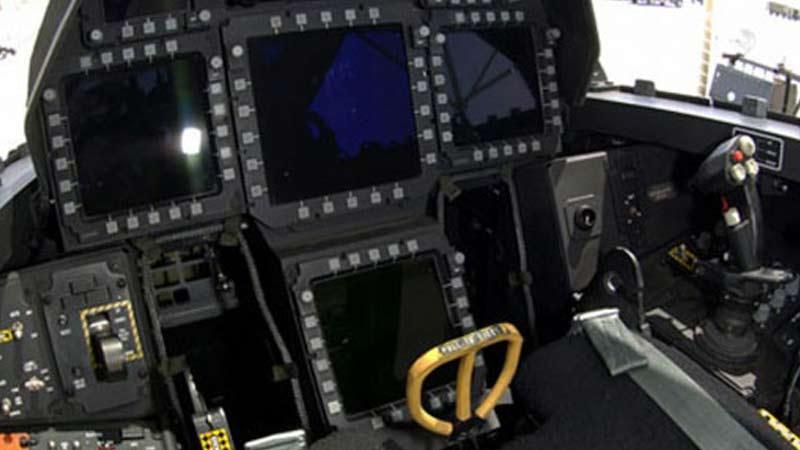 Aircraft simulator display